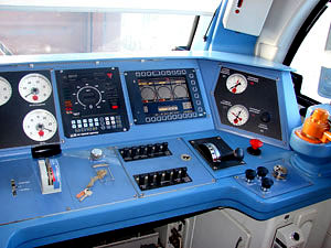 Enclosures for electric locomotive control panels, interior
