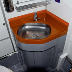 The element of the sanitary cabin of the car