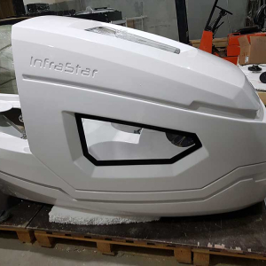 Production of fiberglass housings for medical and SPA equipment